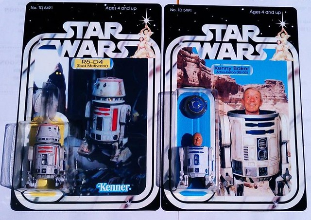 Custom Star Wars action figures by TD 5491 Phenix Customs - R5-D4 (Bad Motivator) & Kenny Baker