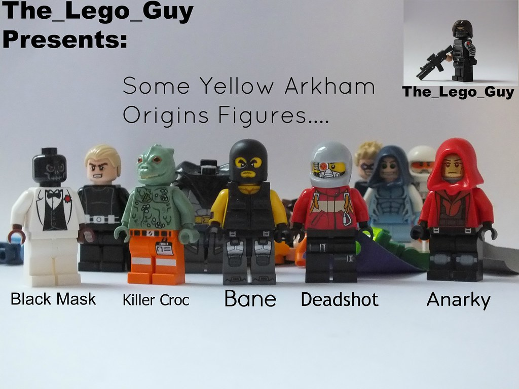 Lego: Some Yellow, Olive, And Gold/Gray Arkham Origins Fig ...