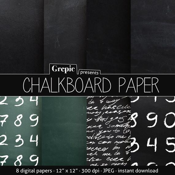 Chalkboard Digital Paper Download - Etsy.com