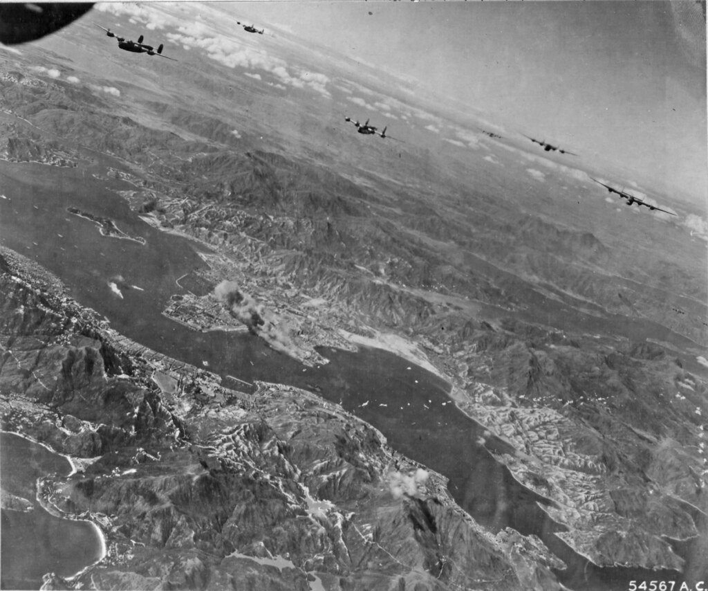 B-24's bombing Kowloon docks and railroad yards Oct 16 194 ...