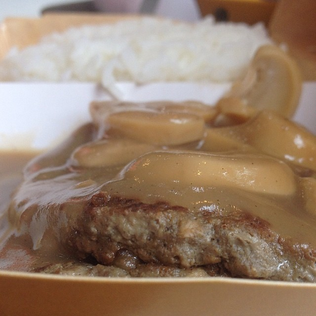 how to cook burger steak with mushroom