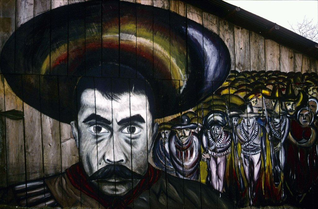Img011 eda sm zapata mural zapatista encuentro 1996 for Mural zapatista