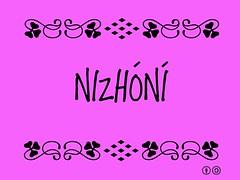 Buzzword Bingo: Nizhóní = That is beautiful = Bonito (Diné)