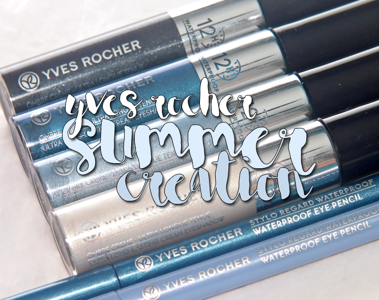 yves rocher summer creation ultra long lasting cream eyeshadow and watereproof eye pencils