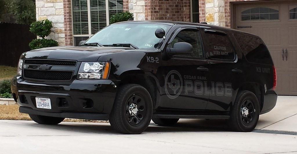 Cedar Park, TX Police K-9 Unit Slicktop Chevy Tahoe PPV wi