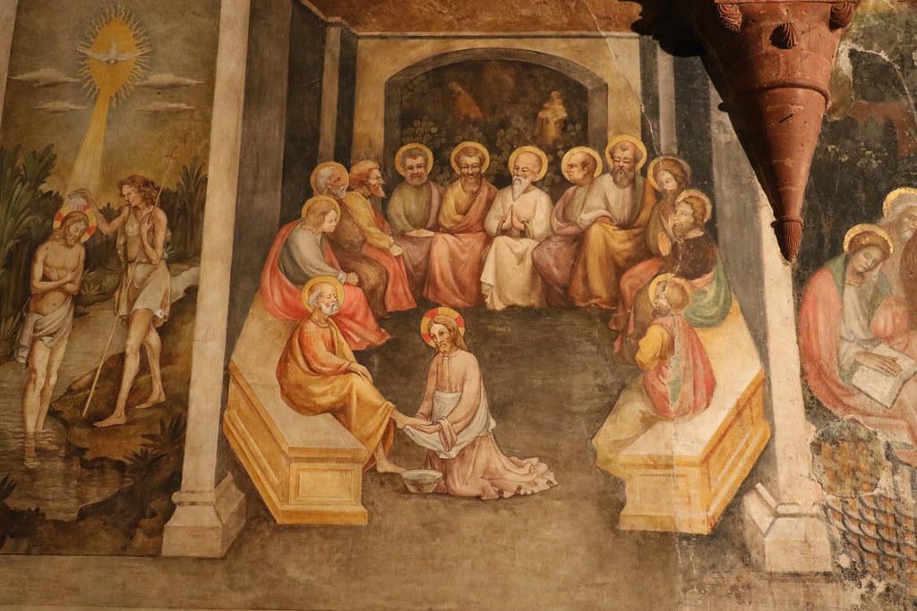 Ges lava i piedi agli apostoli cappella di santa cateri for Planimetrie di 1400 piedi quadrati