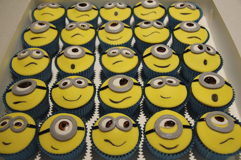 Despicable Me Cupcakes Minion Cupcakes From Despicable