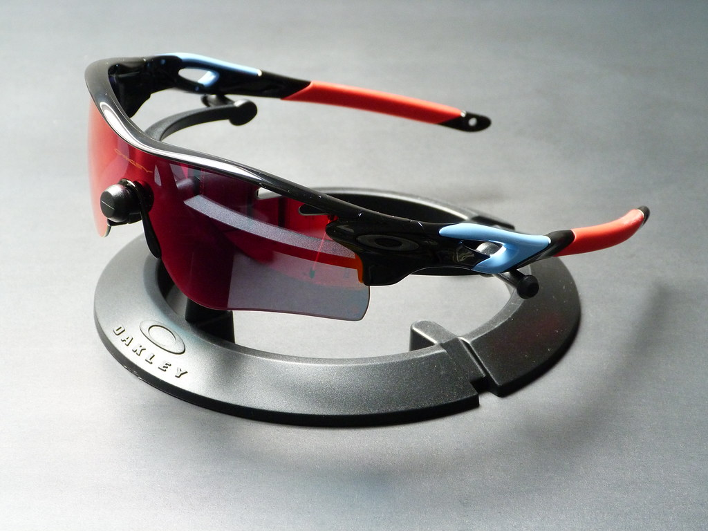 red and white oakley radar