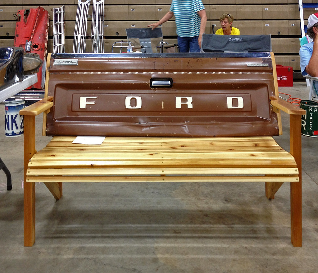 Ford Pickup Tailgate Bench Wooden Bench Seat With A Ford
