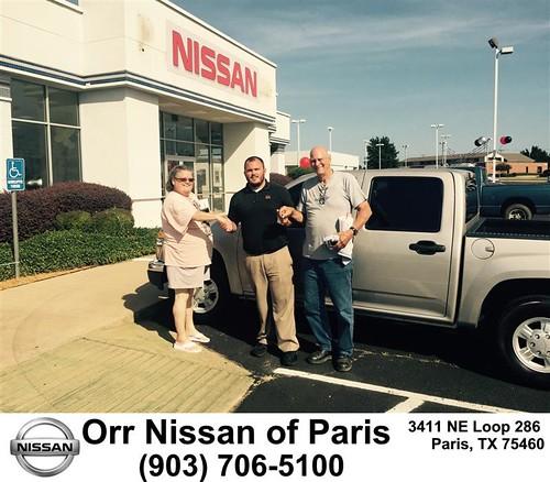Orr Nissan Paris Tx >> Congratulations to Carliss Haltom on your #Chevrolet #Colorado from Nick Jones at Orr Nissan of ...