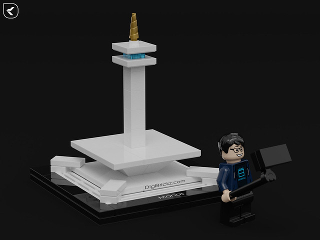 LEGO National Mounument of Indonesia: Monas by Kamal Muftie Yafi (KamalMYafi/Kamteey)