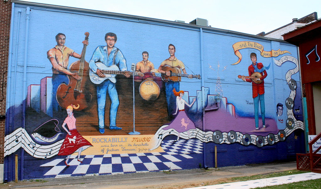 Rock a billy mural jackson tn jackson tn is home to for Jackson 5 mural