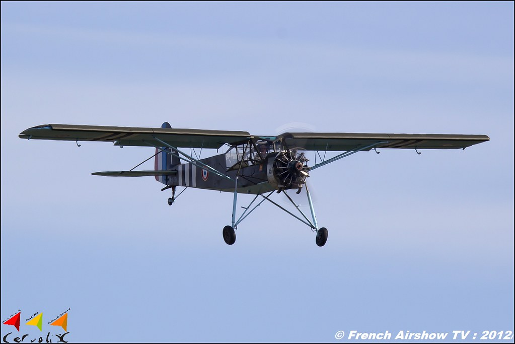 Morane-Saulnier MS-505 Criquet F-AZTB Cervolix Plateau de Gergovie Auvergne Comment faire photos de Meeting Aerien 2012