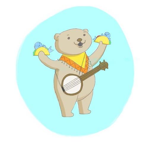 Taco Teddy illustration
