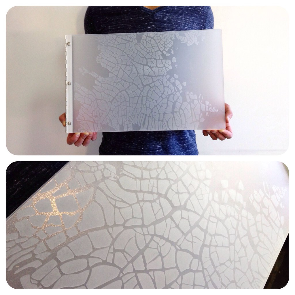 Custom Fashion Design Portfolio Book With Engraving Treatm