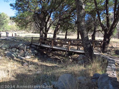 The bridge across a (sometimes) dry streambed at Faraway Ranch, Chiricahua National Monument, Arizona