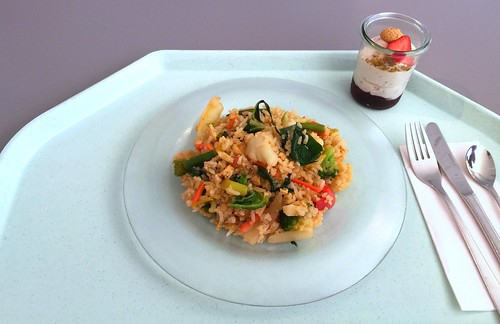 Kao Pad - Fried rice with vegetables & egg in soy sauce / Gebratener Reis mit Gemüse & Ei in Sojasauce