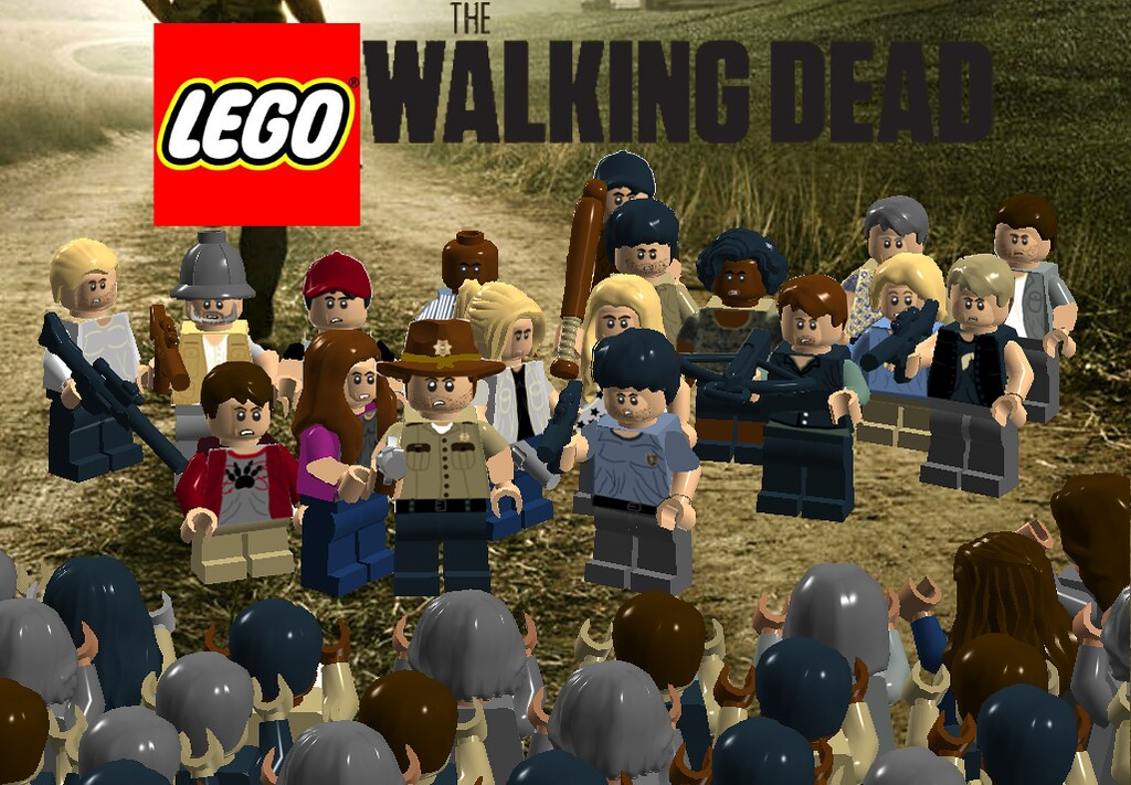 lego the walking dead season 1 poster this is a lego the. Black Bedroom Furniture Sets. Home Design Ideas