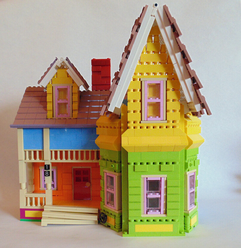 Disney pixar 39 up 39 house finally i have managed to for Model house movie