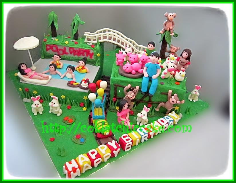 Cake taman bermain