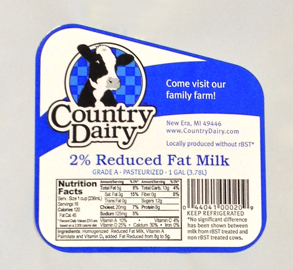 Country Dairy Gallon Milk Label Great Lakes Label Llc