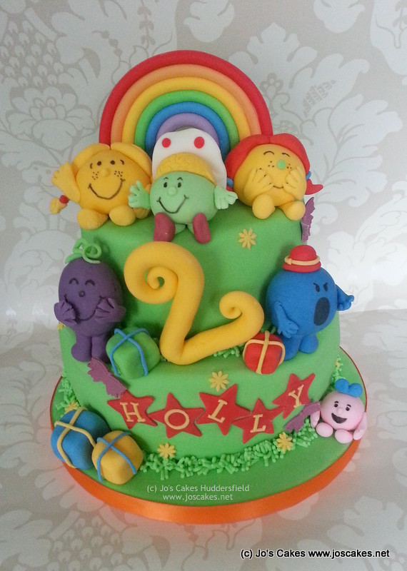 Two Tier Mr Men 2nd Birthday Cake White Rose Cake Design Flickr