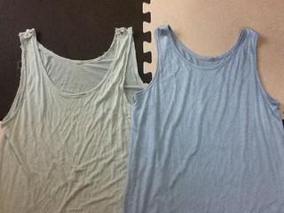 夫シルクシャツ新旧比較