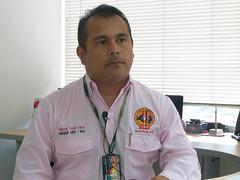 Héctor Vaca, presidente  de la USO en Cusiana