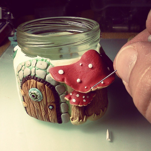 Coming soon this is my original design please respect m How to make a fairy door out of clay