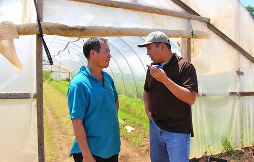Liang Shao Hua with Frank Wu, NRCS