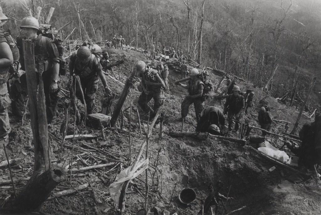 "Members of 4th Marines Move Along Ridgeline, 1969 | ""After ..."