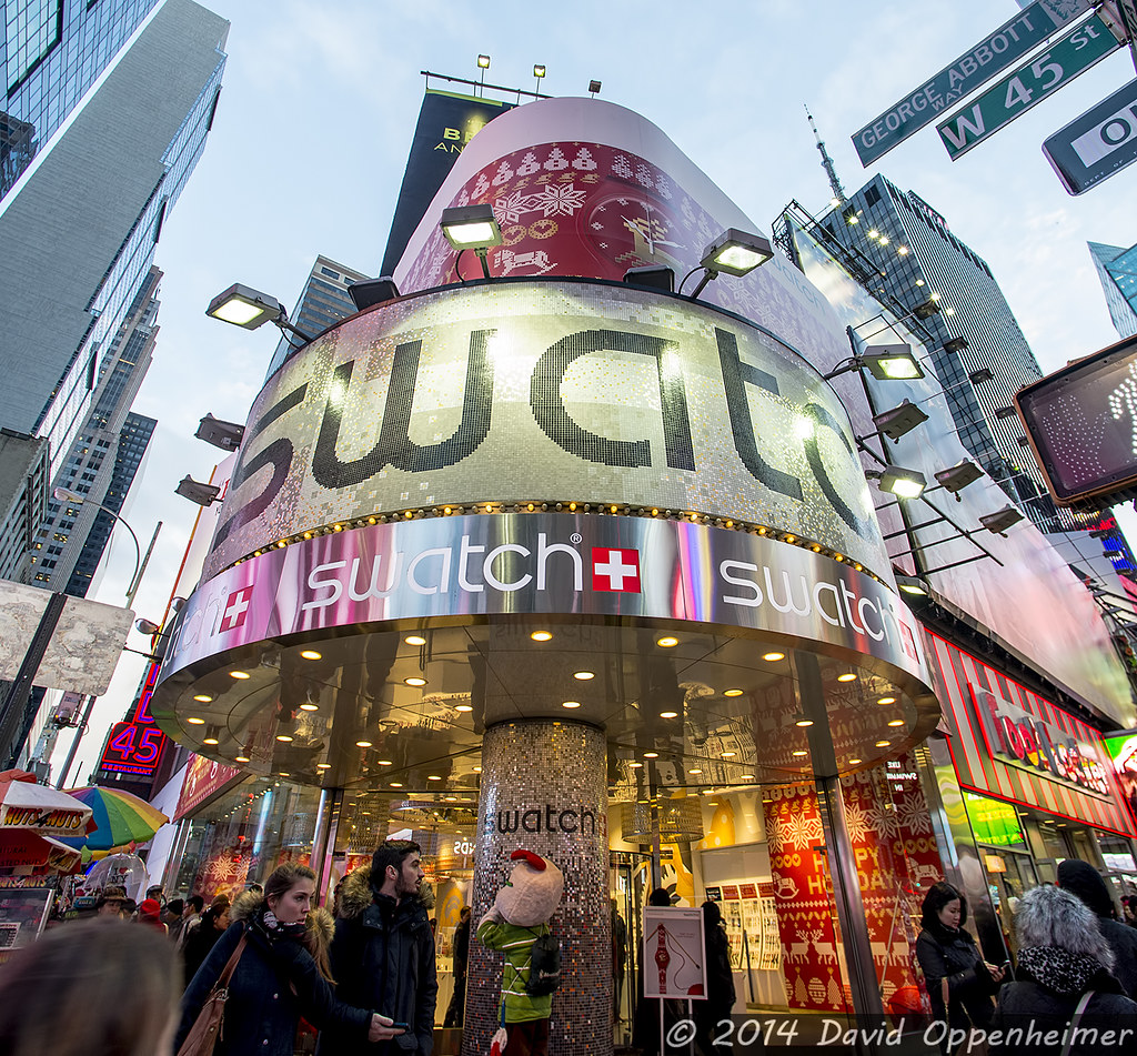 Swatch Store in Times Square in New York City | Swatch store ... Newyorkcity