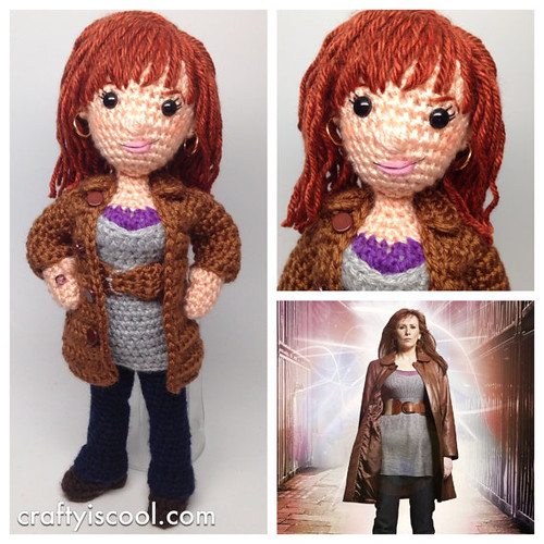 Doctor Who Crochet Amigurumi from CraftyIsCool - Donna Noble