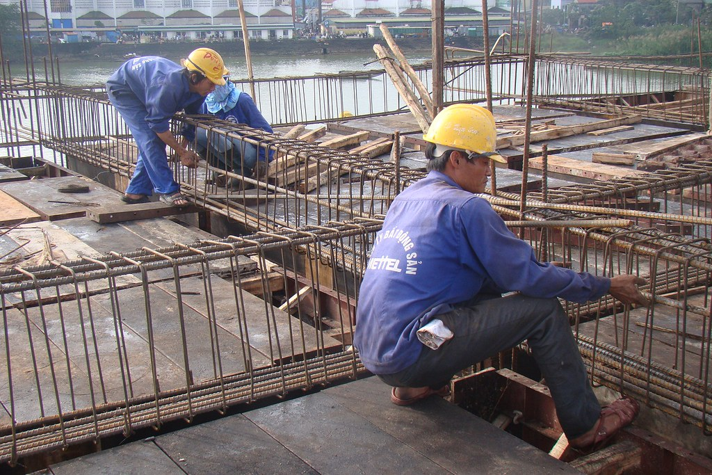 Lap Dung Lắp Dựng Cốt Thép Dầm Sàn