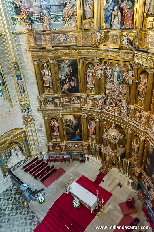 Desde lo alto de la bóveda de la catedral mayor. No muy apto para miedosos a las alturas como yo.
