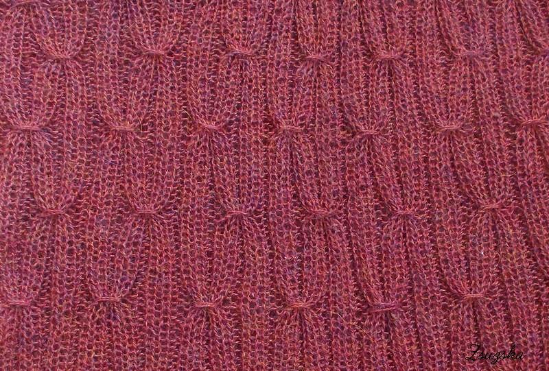 phoebe smocked cow, knitting, cowl, kötés, csősál, (4)