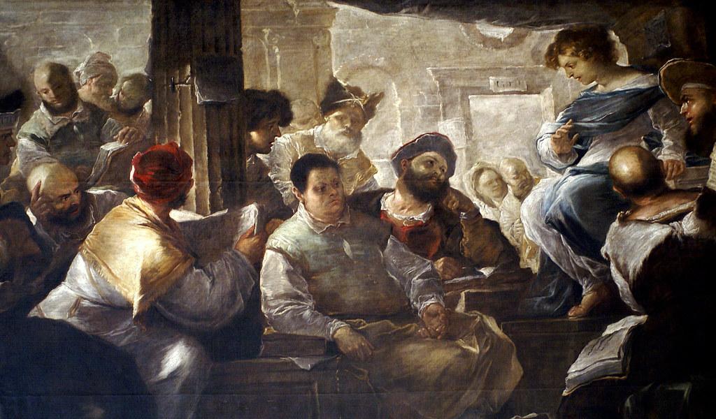 luca giordano jesus unter den schriftgelehrten ausschnit flickr
