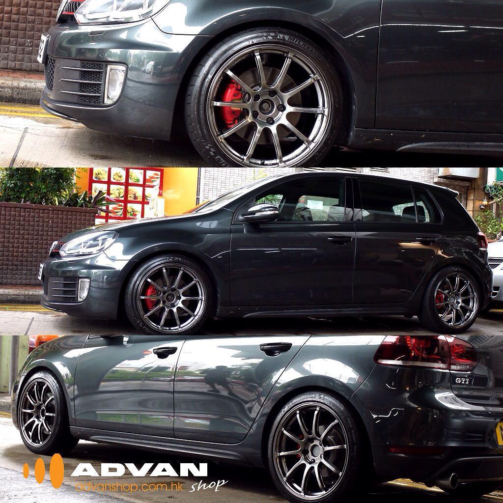 Vw Golf 6 Gti With Advan Racing Rs2 Wheels Vw Golf Gti