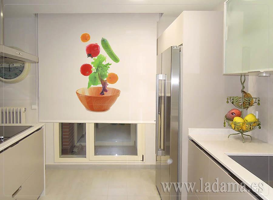 Estor enrollable fotogr fico de cocina estampaci n digit for Catalogo de cortinas para cocina