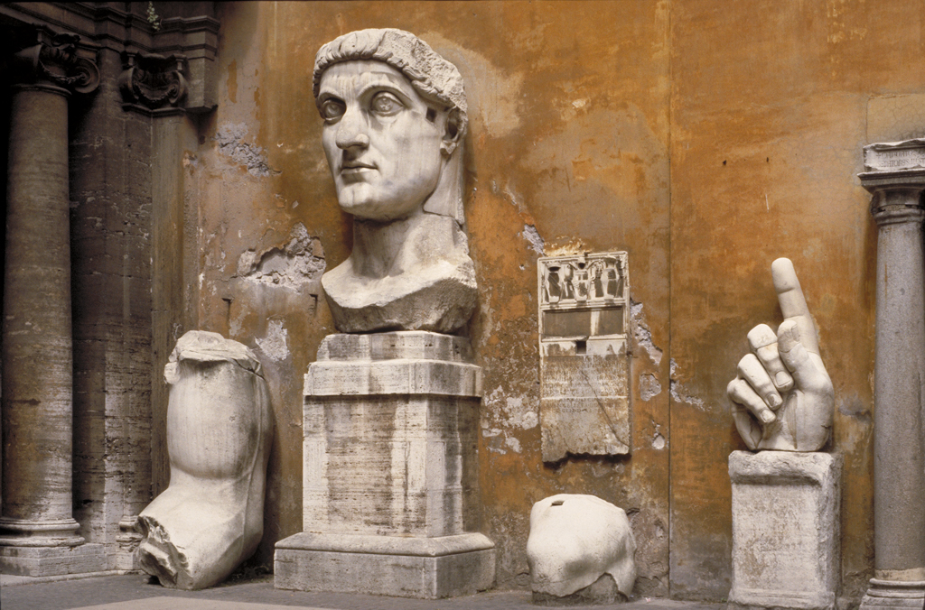 Emperor Constantine Head And Fragments From A Colossal St