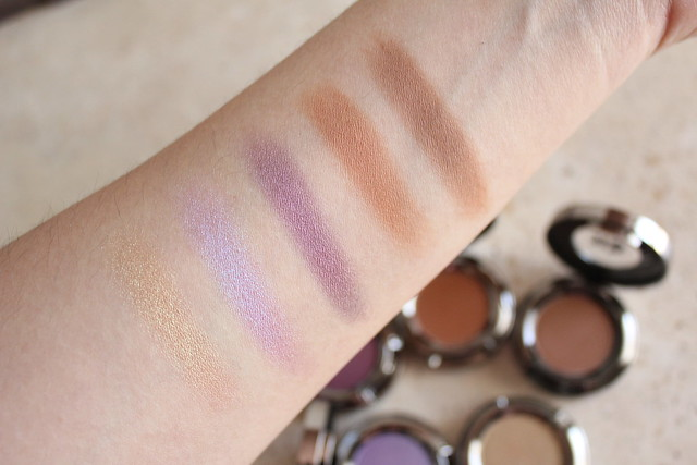 Urban Decay Eyeshadow in Sideline, Tonic, Backfire, Riff and Beware swatches