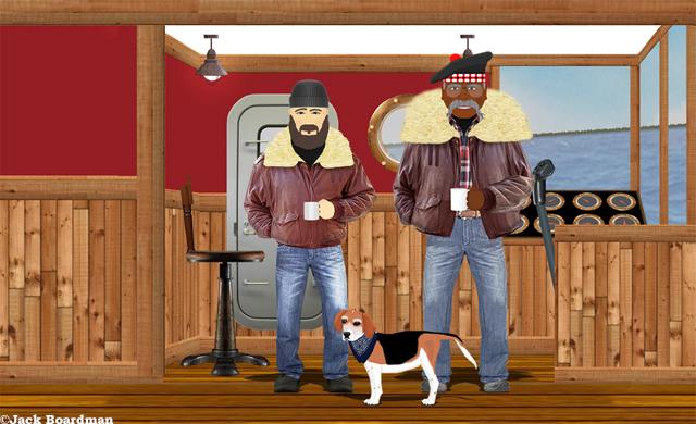 Mac joined AJ & Daisy in the wheelhouse ©Jack Boardman