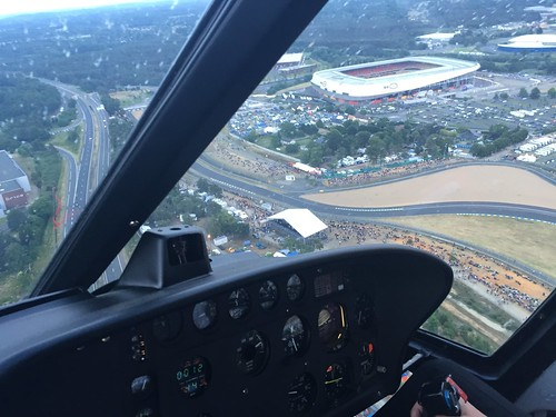 Helicopter ride over the Le Mans circuit