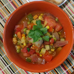garden vegetable bean stew