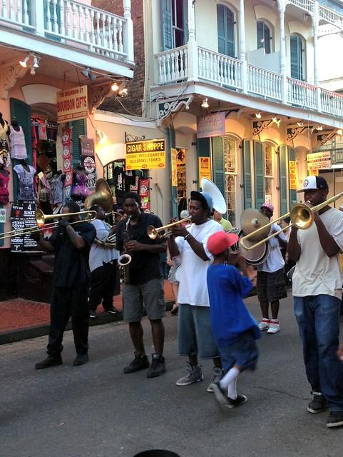 Bourbon Street marching band