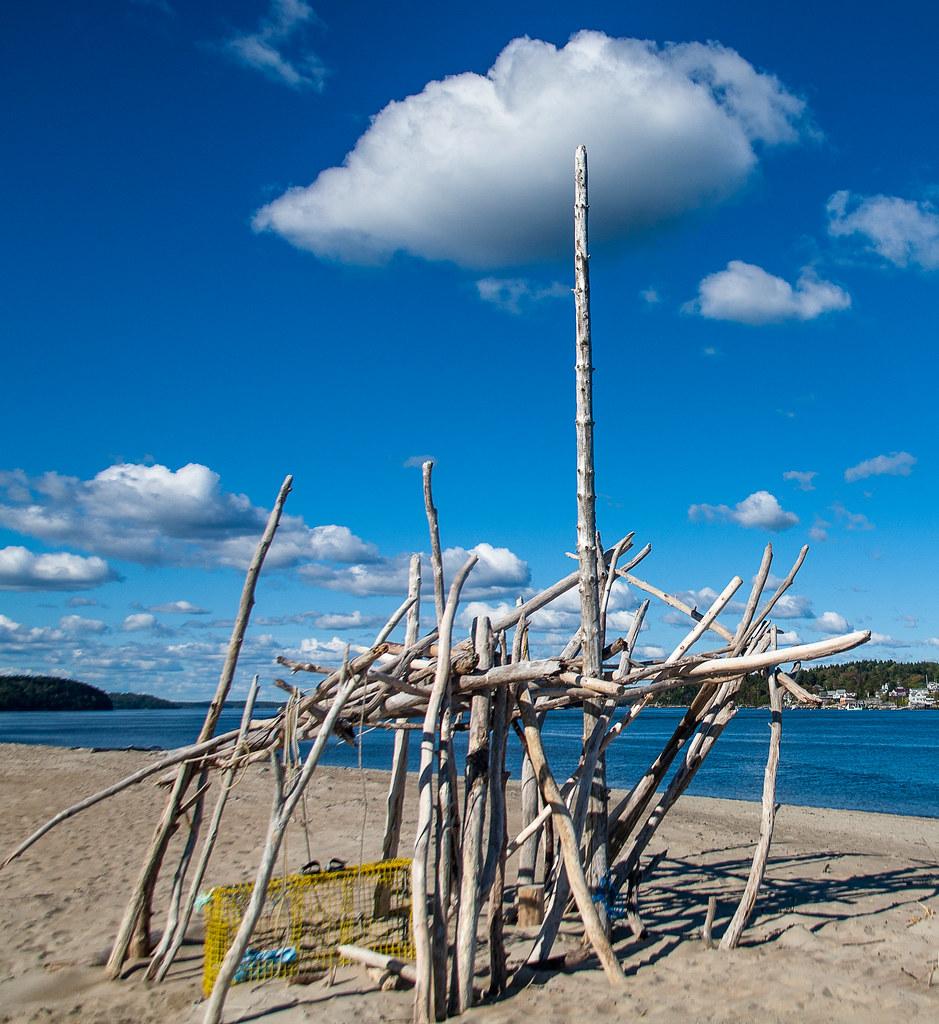 Fort Popham Beach Structure   On the beach near Fort Popham …   Flickr