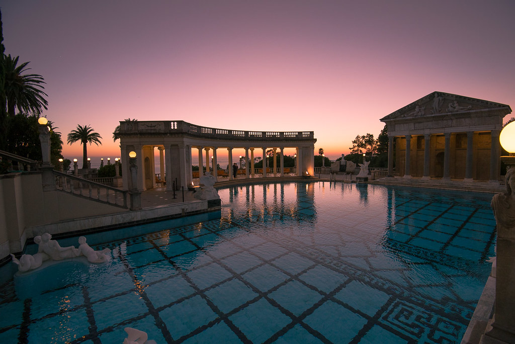 Sunset at Neptune Pool, Hearst Castle | Right after sunset ... After The Sunset