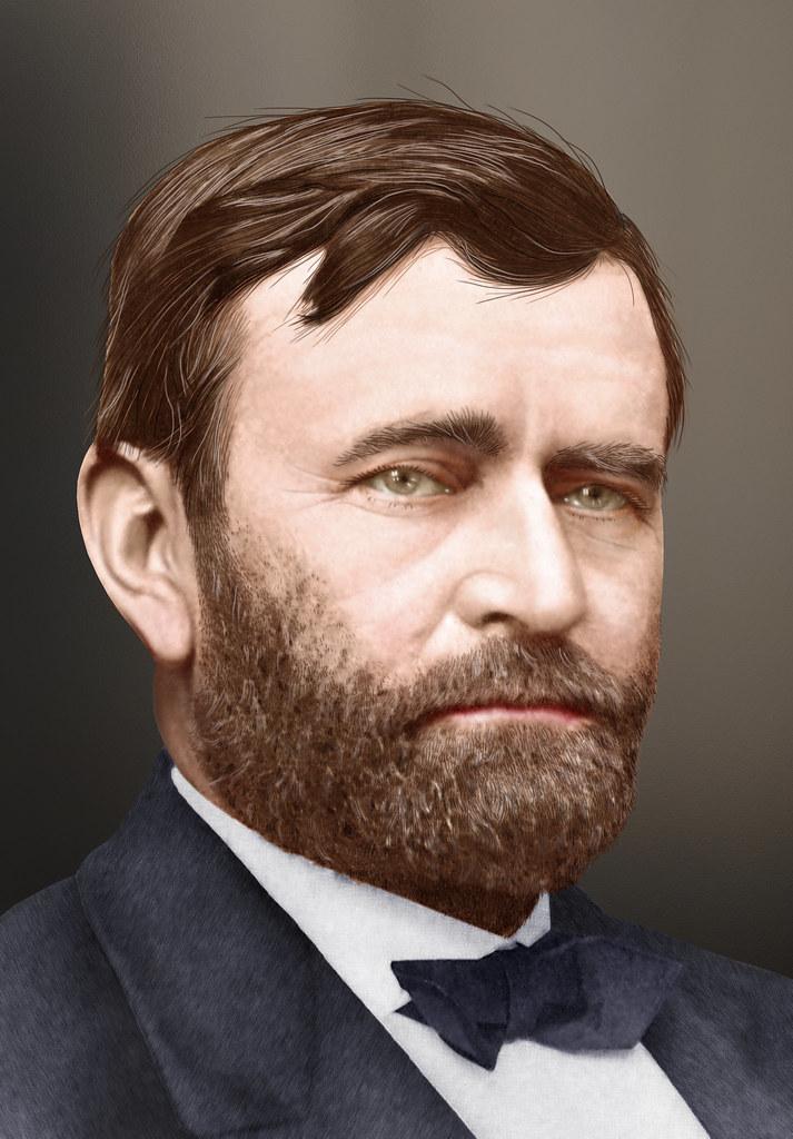Ulysses S. Grant - Colorized | Ulysses S. Grant, aka U.S ...