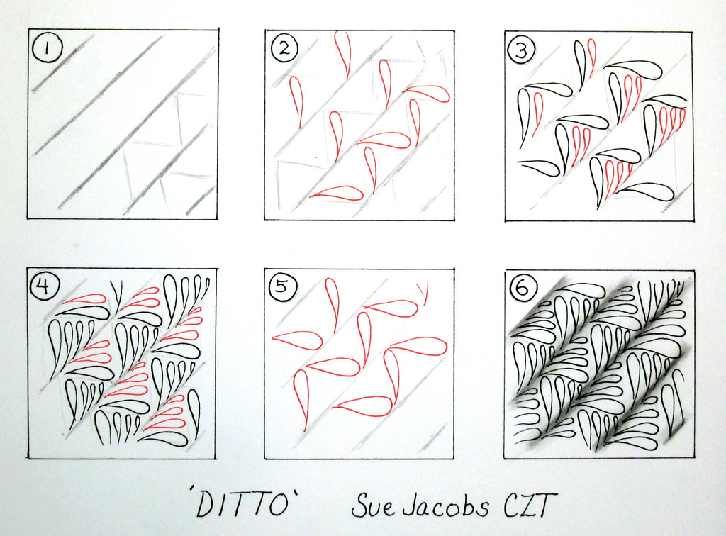 how to draw zentangle patterns