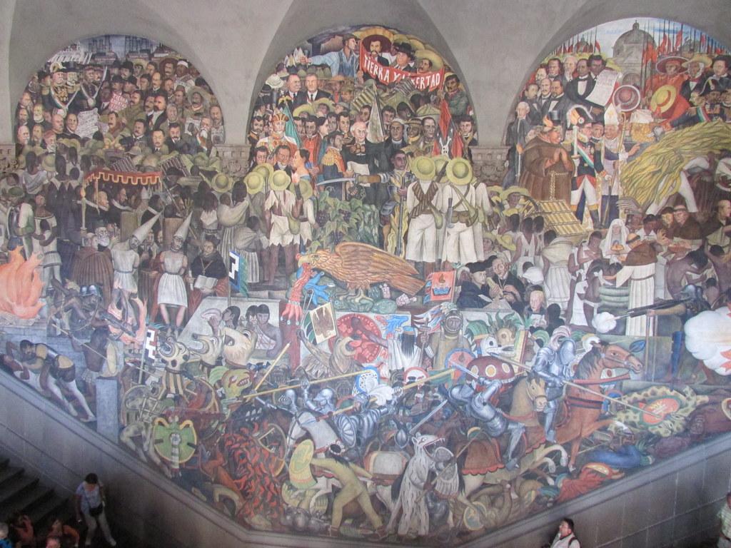 M xico a trav s de los siglos or epopeya del pueblo mexi for Mural mexicano